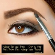 Step by Step Video tutorial for perfect Dark Brown Eyes Makeup  Source