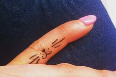 Finger Feline cats tattoo