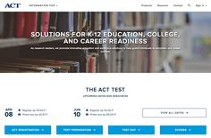 Registration information for the ACT Test.