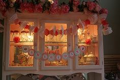 letters on round background & cupcake liner garland
