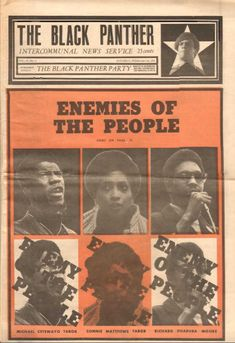 """""""Enemies of the People,"""" The Black Panther, February 13, 1971."""