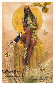 Sexy Black Art, Black Love Art, Black Girl Art, Art Girl, Oshun Goddess, Goddess Art, Black Goddess, African American Art, African Art