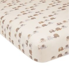 Lambs & Ivy® Oatmeal Cookie Elephant Fitted Crib Sheet - BedBathandBeyond.com