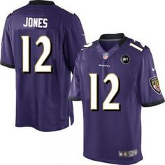 0637eb731 Nike Baltimore Ravens  12 Jacoby Jones Limited Purple With Art Patch Men NFL  Stitched Jersey · Ed ReedRay ...