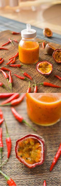 Passion Fruit Hot Sauce Recipe | DIY Easy Hot Sauce Recipes by DIY Ready at  http://diyready.com/top-14-hot-sauce-recipes/
