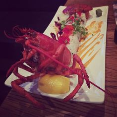 The lobster tempura was great! The presentation with the lobster head was even better!  #legalseafood