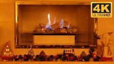 4K Christmas Fireplace Video: Ultra HD TV Screensaver