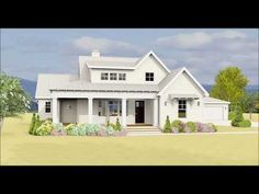 Plan 28919JJ: Country Farmhouse Plan With Detached Garage ... on rambler house plans with side garage, bathroom detached garage, atrium house plans detached garage,