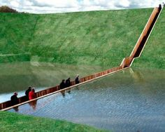The Moses Bridge – a Place Where Water Divides, The Netherlands