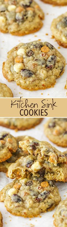 Kitchen Sink Cookies - full of a little bit of everything!