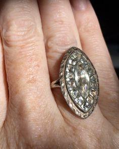 (@luxyferjewellery) в Instagram: «Georgian black dot paste brooch conversion #scrumptious #ring #brooch #conversion #georgian #paste…»