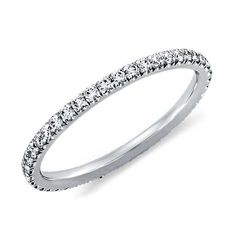 Pavé Diamond Eternity Ring in 14K White Gold (3/8 ct. tw.)