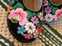Cute embroidered shoes