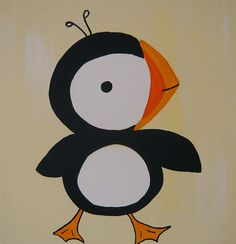 Puffin! (Recreate this with paper pieces and/or paper plates for kids to put together)