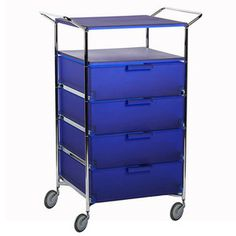 Mobil 4 On Wheels With Shelf Blu, $1,360, now featured on Fab.