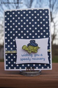 from Kelly's Place: Get Well Card featuring Echo Park paper and Lawn Fawn stamps