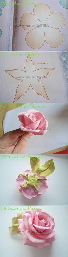Las rosas de foamirana sobre e
