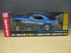 CANDIES & HUGHES 1970 PLYMOUTH CUDA FUNNY CAR LEGENDS 1:18 AUTO WORLD AW1172 HOT #AutoWorld #Plymouth