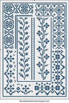 Free Easy Cross, Pattern Maker, PCStitch Charts + Free Historic Old Pattern Book… Easy Cross gratuit, Pattern Maker, PCStitch Charts + Free Historic Old Pattern Books: Sajou No 658 Cross Stitch Boarders, Cross Stitch Bookmarks, Cross Stitch Samplers, Cross Stitch Flowers, Cross Stitch Charts, Cross Stitch Designs, Cross Stitching, Cross Stitch Embroidery, Loom Patterns