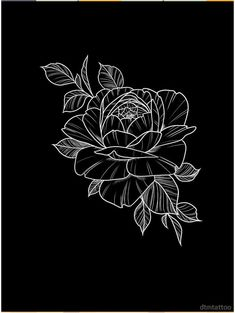 'Pretty linework flower' T-Shirt by dtmtattoo Realistic Flower Drawing, Simple Flower Drawing, Easy Flower Drawings, Beautiful Flower Drawings, Easy Drawings, Drawing Wallpaper, Watercolor Wallpaper, Aesthetic Drawing, Flower Aesthetic