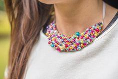 perličkový náhrdelnik m4