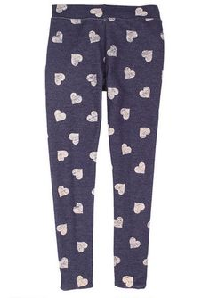 Heart Print French Terry Crop