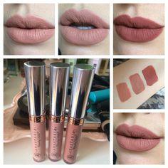 Anastasia Beverly Hills Liquid Lipsticks (Spring 2016). L-R: Naked, Stripped, Ashton, Naked + Ashton