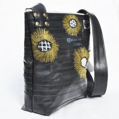 bag made from recycled bike inner tubes