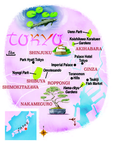 Tokyo map by Scott Jessop. February 2015 issue