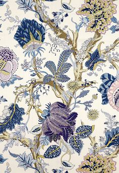 SCHUMACHER INDIAN ARBRE Jacobean Linen by ExquisiteFabrics2015