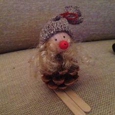 Santa pine cone christmas