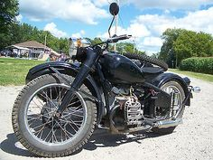 Other Makes : CJ-750 CJ-750 Motorcycle 1938 BMW R-71 & Harley XA replica with Sidecar Chang Jiang 750, 2