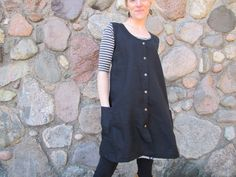 Organic Linen Snap Smock by consciousclothing on Etsy https://www.etsy.com/listing/128600686/organic-linen-snap-smock