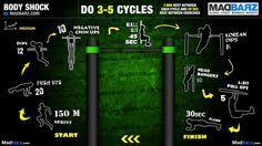 Rutina full body -empuje, jalón, piernas y abs- (Body Shock)