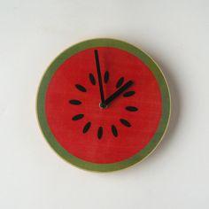 Objectify Fruity Wall Clocks. $24.00, via Etsy.