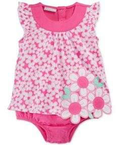 First Impressions Baby Girls' Pink Daisy Sunsuit, Only at Macy's