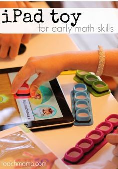 This iPad toy is a great teaching resource for early math skills. The tiggly counts game for the iPad is a new and innovative toy and is so cool! So, when you need an indoor activity for a rainy summer day, but you still want the kids to do something educational, try this fun kids math game! #teachmama #mathgame #ipadgame #learningmath #mathskills #summeractivity #indooractivity #mathforkids