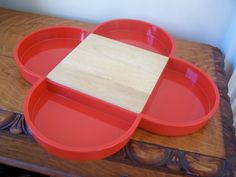 Vintage Dansk 5 Section Tray by Gunnar Cyren Red by 2numerous, $38.00