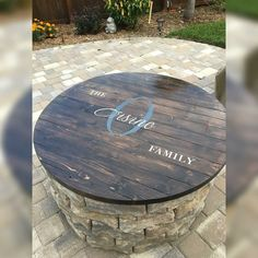 Fire pit table top .