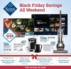Shop for the best Black Friday deals at Sam's Club. With offers and sales to save big on your holiday shopping, you'll love the unbelievable prices at Sam's Club. Black Friday 2019, Best Black Friday, Saving Sam, No Rain, Cyber Monday, Open House, Cool Things To Buy, Sam's Club, Shopping