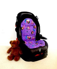 Car Seat Cooler - Made with Dora the Explorer fabric and funky stars Pockets with reusable ice packs - Made to Order. $40.00, via Etsy.