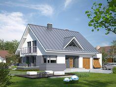 Projekt domu Meteor 3 (153,01 m2). Pełna prezentacja projektu na stronie: http://www.domywstylu.pl/projekt-domu-meteor_3.php. #meteor3, #projektygotowe, #wnętrza, #aranżacje, #domywstylu, #mtmstyl, #architektura, #projekty