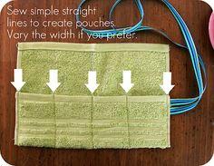 Washcloth travel pouch tutorial