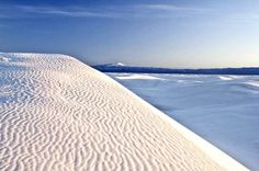 White Sands is a national monument in New Mexico. It is composed of white, wave-like dunes that make... - Shutterstock
