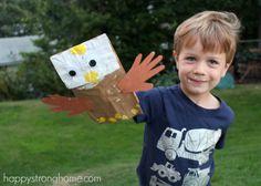 Exploring Patriotic Symbols through Crafts - my preschool son loved the bald eagle puppet especially! #DIY
