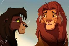 The Last Talk by - DeviantArt ~ Old Simba and Kovu The Lion King Lion King Story, The Lion King 1994, Lion King Fan Art, Lion King Simba, King Art, Simba Disney, Disney Cats, Disney Lion King, Disney And Dreamworks
