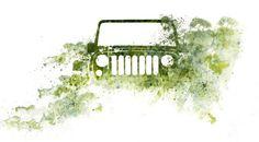 Jeep Wrangler watercolor photo  Jeep art by Melissa Marcarelli