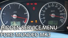 How to enter hidden menu in #Ford #Mondeo MK3 (service mode, gauges self-test, needle sweep)