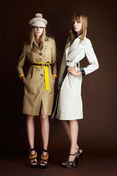 Burberry Resort Collection 2012 Model - Cara Delevingne (Left)