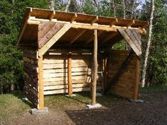 Jean from Montreal built this basic woodshed from these plans. The rustic look is nice.